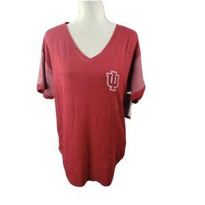 Indiana Hoosiers NCAA T-Shirt Womens S V-Neck NWT